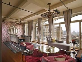 美式風格客廳吊頂吊燈裝修效果圖