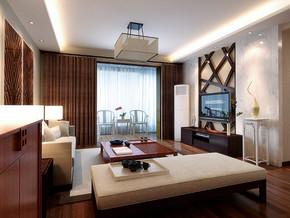 美式风格阁楼客厅电视背景墙装修效果图