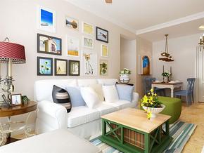 简装风格两室一厅效果图
