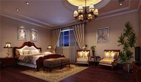 美式古典风格卧室装修效果图