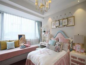 简约浪漫粉色系卧室装修效果图