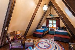 美式風格閣樓臥室裝修效果圖