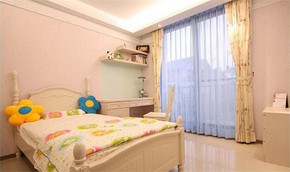 简约韩式女生卧室装修效果图