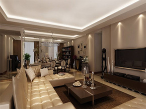 現代風格客廳裝潢設計效果圖