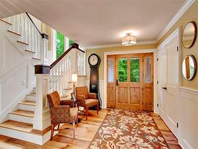 欧式风格三居原木色玄关地板效果欣赏