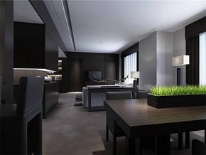 現代風格客廳和餐廳在一起裝修效果圖