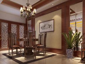 中式餐廳裝修效果圖