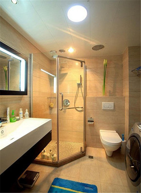 現代風格干濕區分小衛生間裝修效果圖