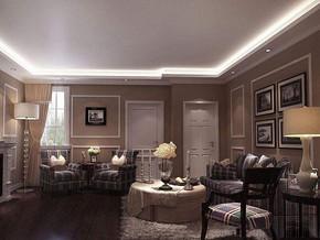 現代簡約風格客廳背景墻裝修效果圖