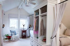 阁楼卧室创意式衣柜装修效果图