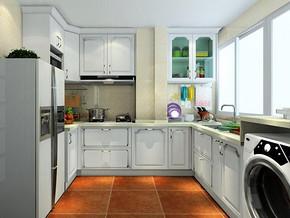 簡歐風格廚房裝修設計圖