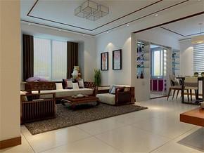 現代簡約風格小戶型客廳擺設裝修效果圖