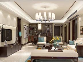 稳重大气新中式客厅装修效果图
