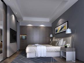 現代簡約風格臥室壁柜裝修效果圖