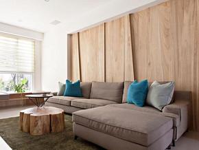 北歐風格客廳沙發背景裝修效果圖