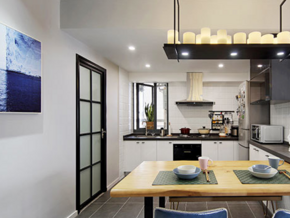 簡約風格開放式廚房餐廳設計裝修圖