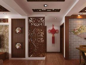 中式風格客廳玄關隔斷裝修效果圖