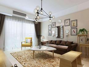 现代简约风格客厅吊灯装修效果图