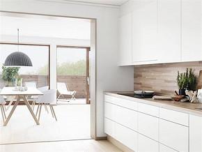 现代简约白色厨房装修图片
