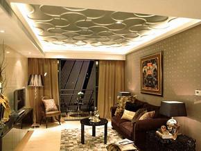 现代风格客厅吊顶装修效果图
