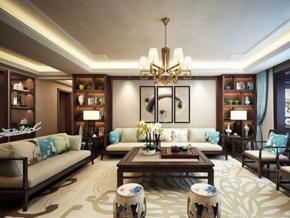 古典雅致中式風格精致客廳設計裝修效果圖
