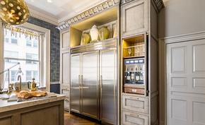美式风格三室不锈钢橱柜装修效果图