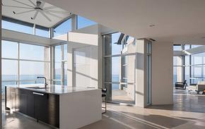 現代風格別墅白色廚房櫥柜裝修效果圖